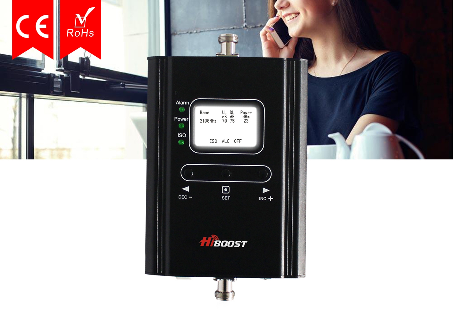 Three Phone Signal Booster Boosts 3G Mobile Signal on 2100 MHz