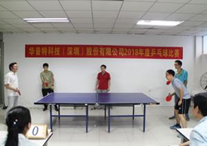 华普特科技2018年度乒乓球赛圆满落幕